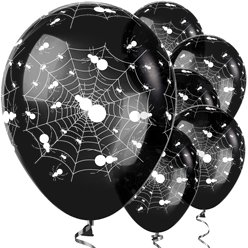 "Black Spider Balloons (12"" Latex)"