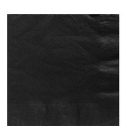 Black Luncheon Paper Napkins - 33cm 2ply