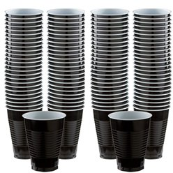 Plastic Cups 454ml 100pk (Jet Black)