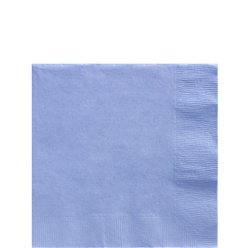 Baby Blue Beverage Napkins - 25cm Square 2ply Paper
