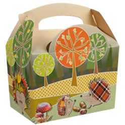 Compostable Woodland Party Boxes- 15cm long