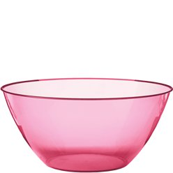 Hot Pink Plastic Serving Bowl - 4.7L