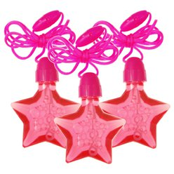 Pink Star Bubble Necklaces