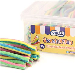 Vidal Fizzy Rainbow Pencils Tub
