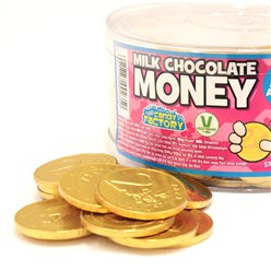 Gold Chocolate Coins Tub
