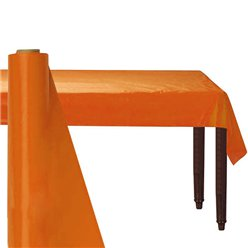 Orange Plastic Banqueting Roll - 30m
