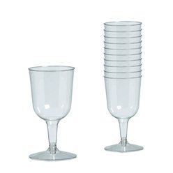 Clear Plastic Wine Glasses - 162ml