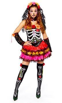 Day of the Dead Senorita - Adult Costume