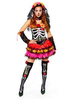 Horror Day Of The Dead Mens Stand Out Suit Stag Festival Halloween Fancy Dress