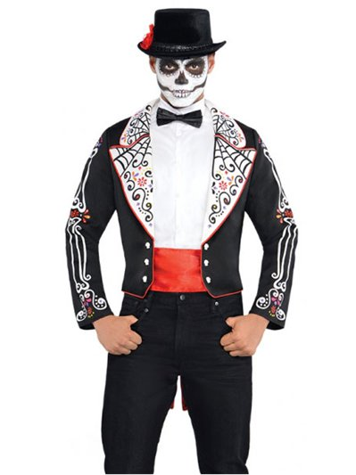 Day of the Dead Coat Set - Adult Costume
