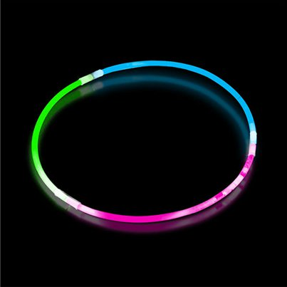 Tri-Colour Glow Necklace - 60cm