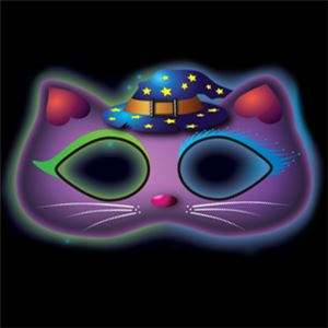 Glow Stick Cat Mask - 19cm