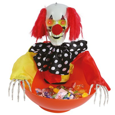 Animated Clown Trick or Treat Bowl