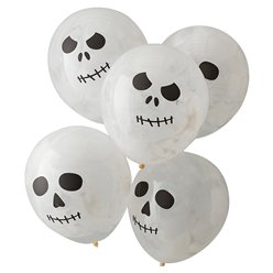 "Skeleton Paint Balloons - 12"" Latex"