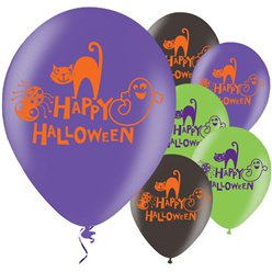"Happy Halloween Balloons - 11"" Latex"