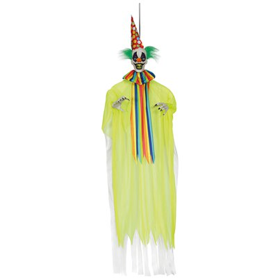 Animated Bright Neon Hanging Clown - 1.5m