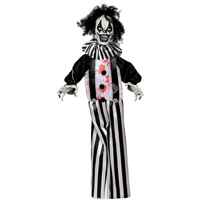 Animated Black & White Hanging Clown