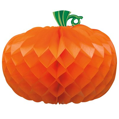 Honeycomb Pumpkin Decoration - 27cm