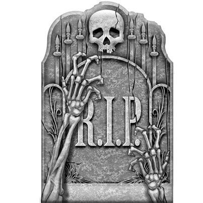 Cemetery Ghostly Arms Tombstone - 56cm
