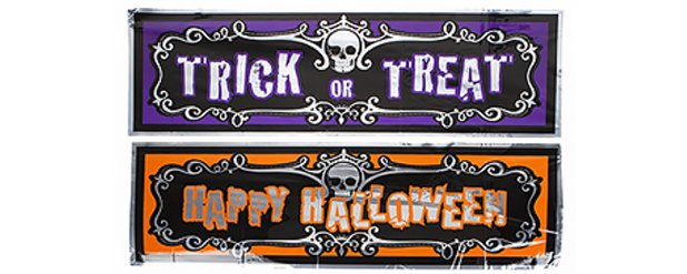 Assorted Halloween Foil Banners - 91m