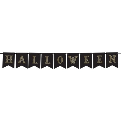 Halloween Gold Flag Banner - 1.75m