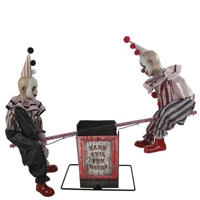 Animated See-Saw Clowns - 1.2m