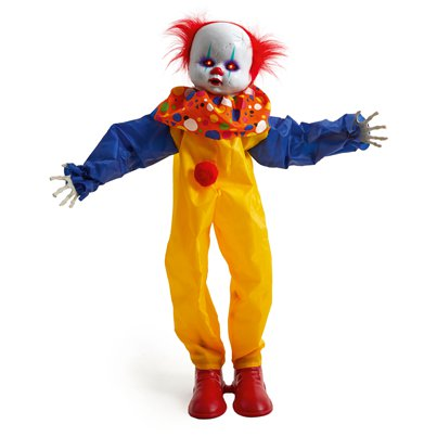 Animated Standing Clown - 88cm