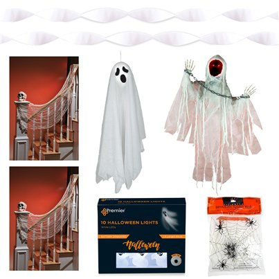 Deluxe Animated Ghostly Doorstep Decorating Kit