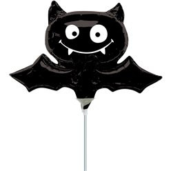 Black Bat Mini Foil Balloon