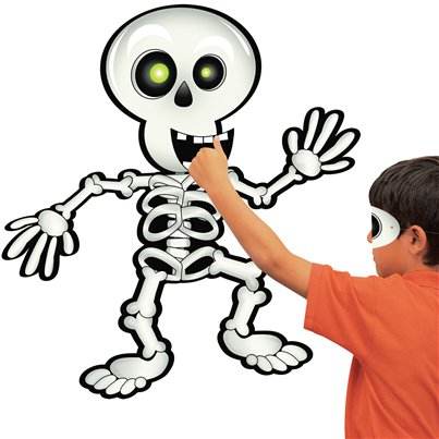 Halloween Game - Pin the Smile on the Skeleton