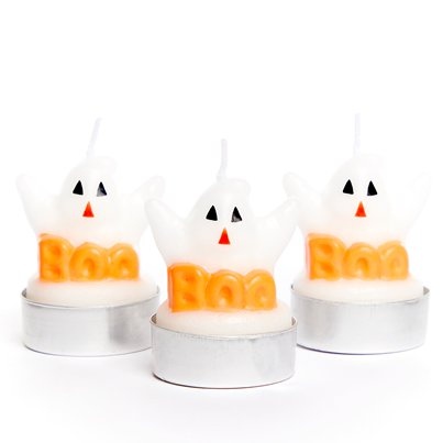 Ghost Tea Light Candles