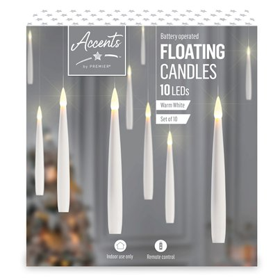 Floating Candles with Lights - 15cm