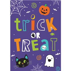 Hallo-Ween Friends Party Invitations -Medium