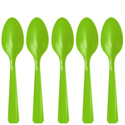Lime Green Reusable Spoons - 20pk