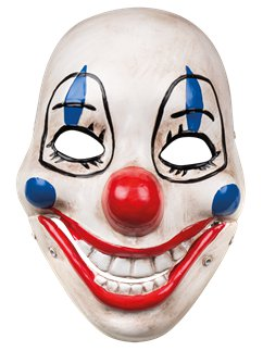 Scary Clown Mask with Movable Jaw