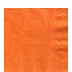 Orange Luncheon Paper Napkins - 33cm 2ply