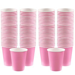 Baby Pink Coffee Cups - 340ml Paper
