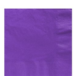 Purple Luncheon Napkins - 33cm Square 2ply Paper