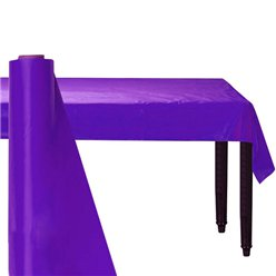 Purple Plastic Banqueting Roll - 30m