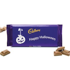 Happy Halloween Cadburys Chocolate Bar