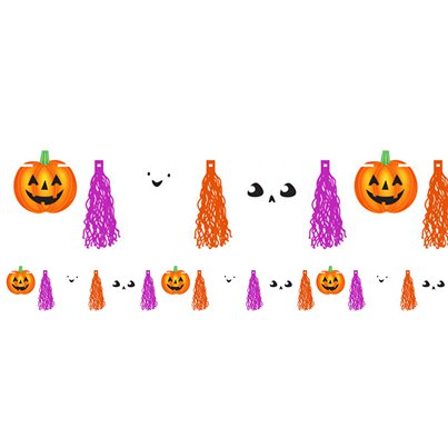Hallo-ween Friends Tassel Garland