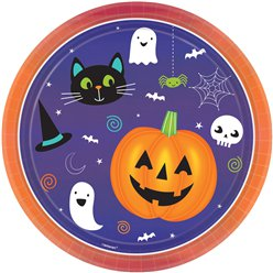 Hallo-ween Friends Plates 23cm