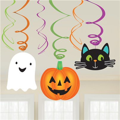 Hallo-ween Friends Hanging Swirls