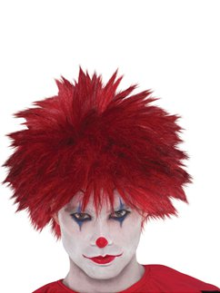 Evil Clown Halloween Wig - Red