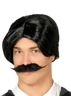 Spooky Family Dad Wig & Moustache