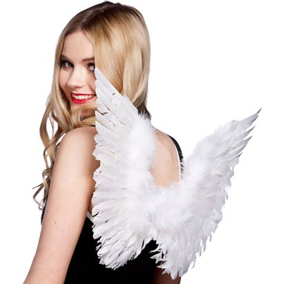 Small Angel Wings - Women's Christmas Nativity Accessory - Adult One Size front