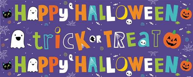 Hallo-Ween Friends Yard Banners - 1m